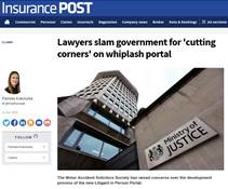 Lawyers slam government for 'cutting corners' on whiplash portal